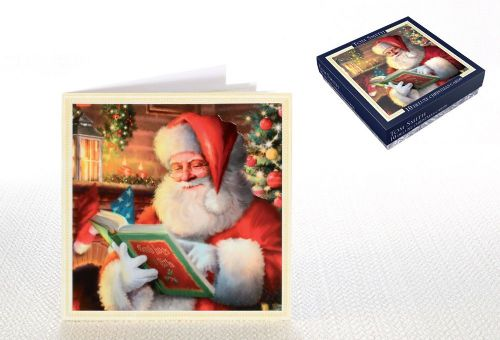 10 Tom Smith Deluxe Christmas Cards Santa